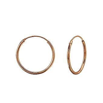 Round - 925 Sterling Silver Ear Hoops - W23930x