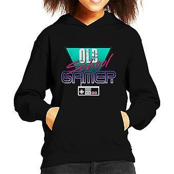 Old School Gamer Kid de Hooded Sweatshirt