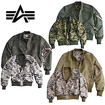 Alpha Industries Bomber Jacket Ma-1 Omkeerbare Camo