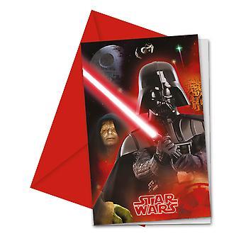 Invitation invitation invitation carte Star Wars finales enfants fête pièces anniversaire 6