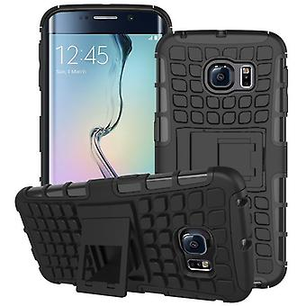 Hybrid case 2 piece SWL robot black for Samsung Galaxy S6 edge G925 G925F
