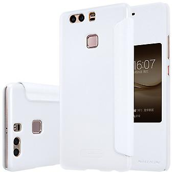 Nillkin smart cover white for Huawei P9 plus bag sleeve case pouch protective