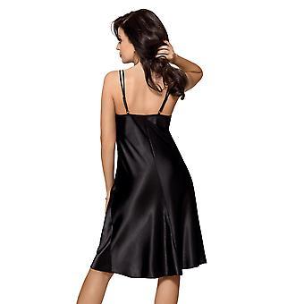 Gorsenia K444 Women ' s Nancy fekete egyszínű, hosszú chemise