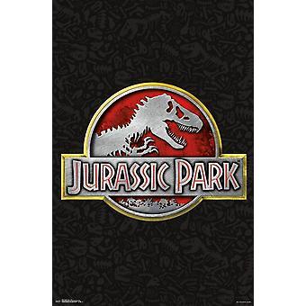 Parque Jurásico - impresión de la insignia Poster