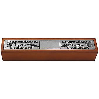 Graduation Certificate Holder in Wood and Pewter