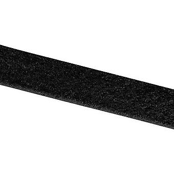 VELCRO® E00102533013025 Hook-and-loop tape stick-on Hook pad (L x W) 25000 mm x 25 mm Black 25 m