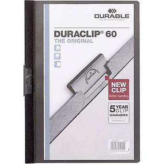 Arquivo de clipe durável DURACLIP 60 - 2209 220901 A4 Black