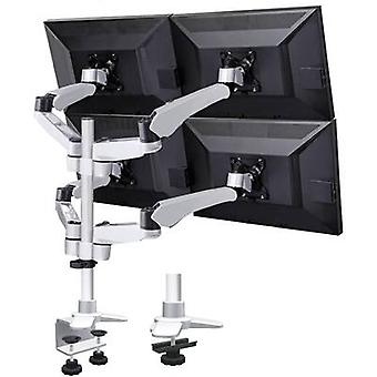 SpeaKa Professional SP-3957076 Flex 4x Monitor desk mount 25,4 cm (10) - 68,6 cm (27) Height-adjustable, Tiltable, Swivelling, Swivelling
