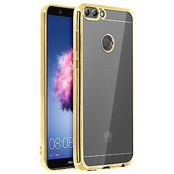 Estuche cristal parachoques para Huawei P Smart, cubierta invisible - oro