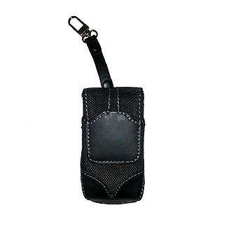 5 Pack -WAU Titan Vertical Leather & Nylon Pouch with Swivel Belt Clip for Motorola V3m - Black