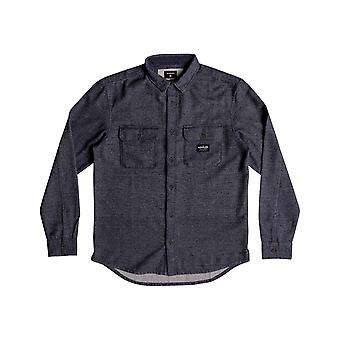 Quiksilver Riku Rock Long Sleeve Shirt in Blue Nights