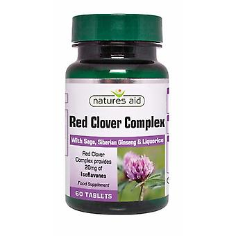 Natures Aid Red Clover Complex with Sage, 60 Tablets