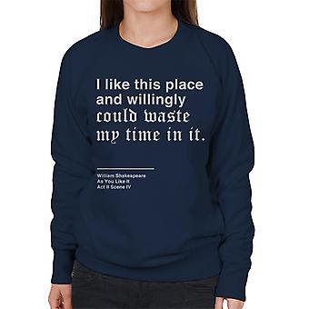 Chętnie tracić czasu jak ty jak to Shakespeare cytat Damska bluza