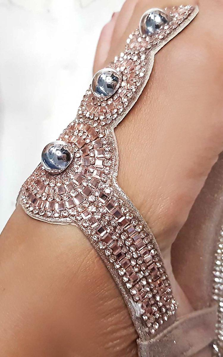 Ikrush Womens Amerie Diamante Embelli Sandales