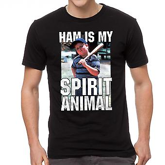 The Sandlot Ham Is My Spirit Animal Graphic Men's Black T-shirt