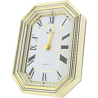 Cadeau tijd producten Alarm bureauklok - goud/zilver