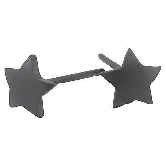 TI2 titanio geometrica stelle orecchini - nero