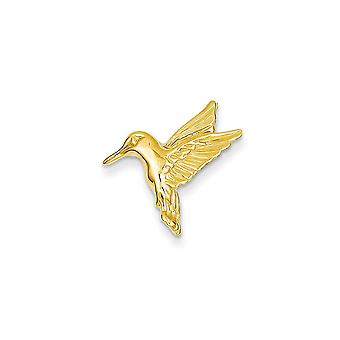 14k Yellow Gold Solid Polished Humming Bird Slide - 1.3 Grams - Measures 18.6x19.2mm