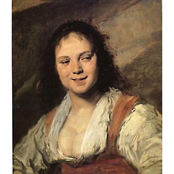 فتاة الغجر، فرانس هالس، 60x50cm