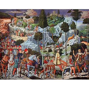 The Journey of the Magi, Benozzo Gozzoli, 50x40cm