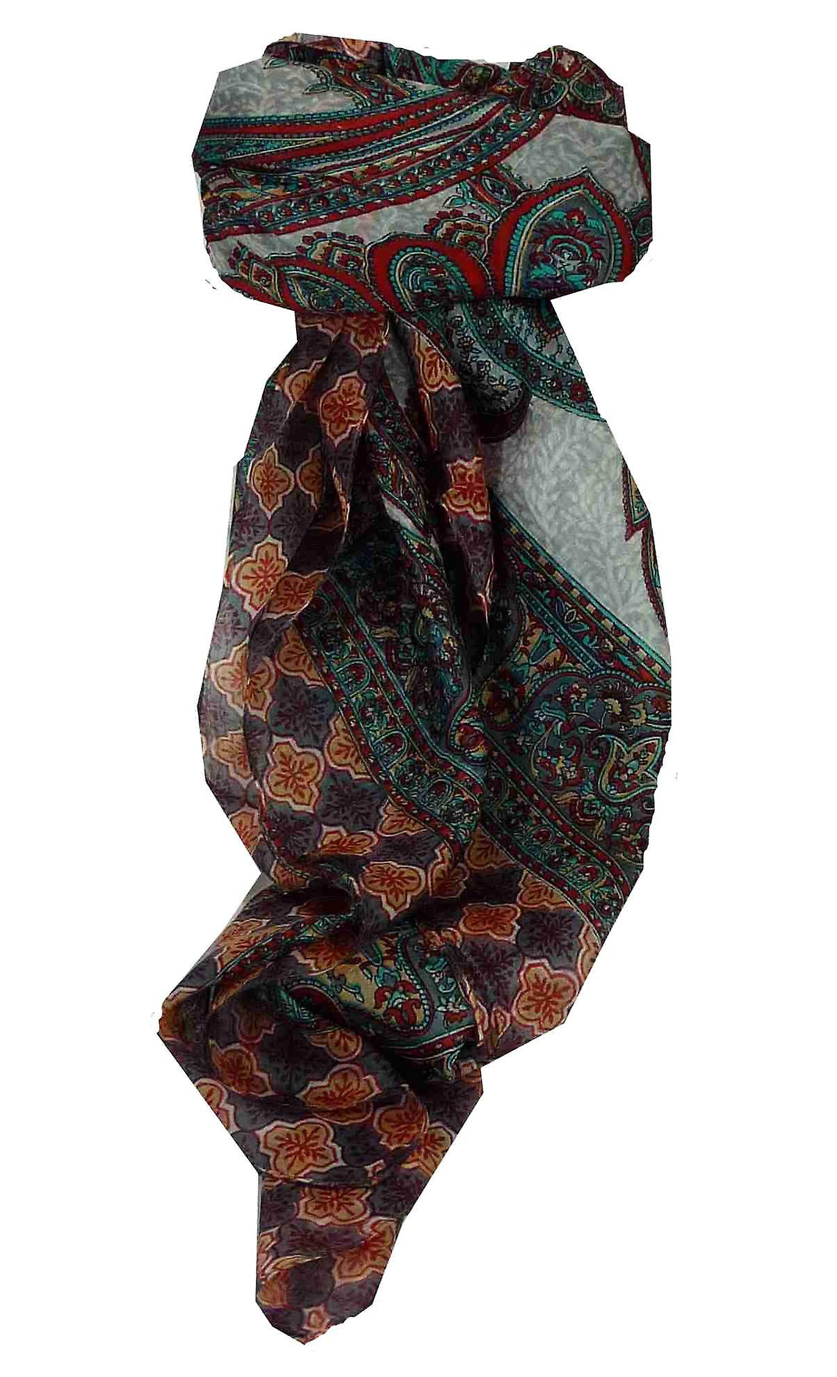 Mulberry Silk Traditional Square Scarf Bibi Pearl by Pashmina & Silk