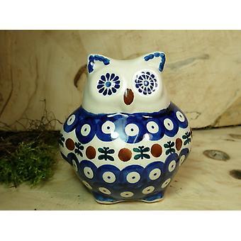 OWL, 2nd choice, 10.5 cm high, tradition 6 boleslawiec aardewerk - BSN 22501