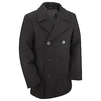 Nieuw ons marine stijl Vintage wol Winter Pea Coat