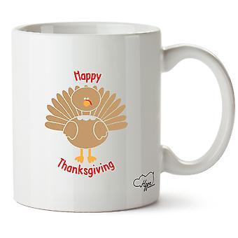 Hippowarehouse Happy Thanksgiving Printed Mug Cup Ceramic 10oz