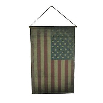 Old Glory Faded Canvas American Flag Wall Hanging