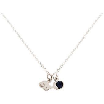 Maritim Nautics halsband baby Whale tillverkad av 925 silver, guldpläterad eller Rose-Sapphire