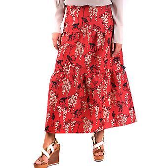 Red Valentino Ezbc026039 Women's Red Cotton Skirt