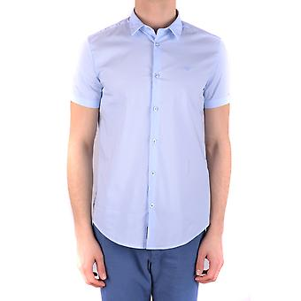 Chemise Armani Jeans Ezbc039121 Men-apos;s Light Blue Cotton