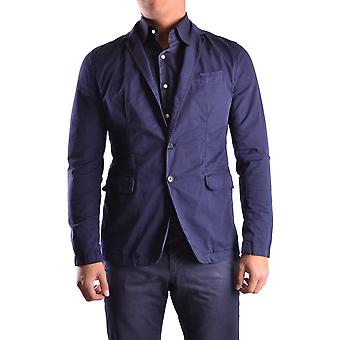 Bikkembergs Ezbc101012 Men's Blue Cotton Blazer