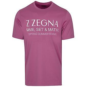 Z Zegna Grape Chest Logo T-Shirt