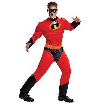 Mr Incredible Muscle Disney Pixar The Incredibles 2 Disfraz de Superhéroe sin hombreS L/XL