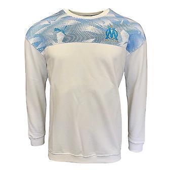 2019-2020 Olympique Marseille Puma Casuals Sweat Top (White)