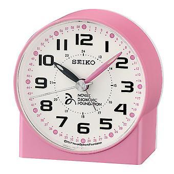 Seiko Novak Djokovic Foundation Alarm Clock Plastic - Pearl Pink (QHE907P)