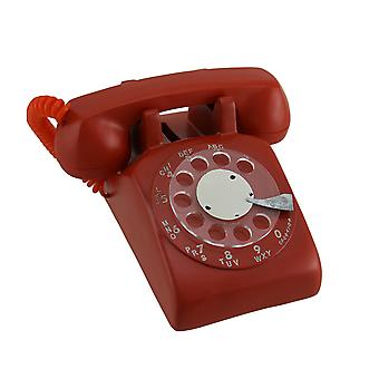 Red Retro Rotary Dial telefono moneta...