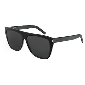 Saint Laurent SL 1 SLIMShiny Schwarze Herren Sonnenbrille