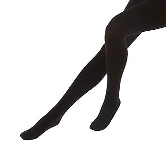 FLOSO Ladies/Womens Black Brushed Thermal Fleece Tights (1 Pair)