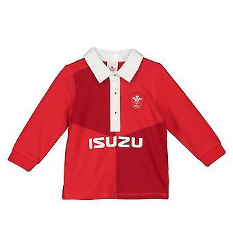 Wales WRU Rugby Baby/taapero sarja pitkähihainen paita | Punainen | 2019/20 kausi
