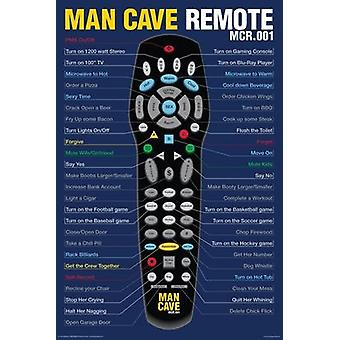 Poster - Man Cave - Remote (24