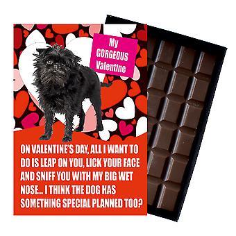Cadeau Affenpinscher pour les cadeaux de la Saint-Valentin pour les amateurs de chiens Boxed Chocolat