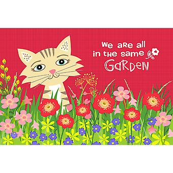 Carolines Treasures  VHA3009PLMT Garden Cat Fabric Placemat
