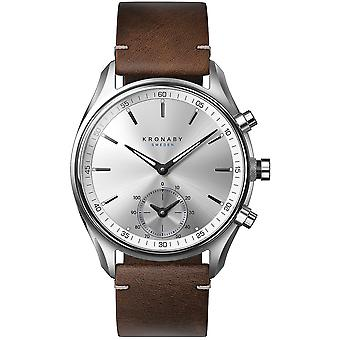 Kronaby Sekel Quartz Analog Men Watch With Cowskin Bracelet S0714/1