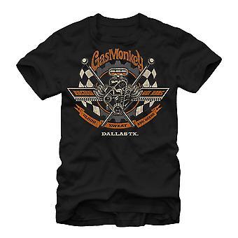 Singe de gaz Garage Texas fait T-Shirt noir