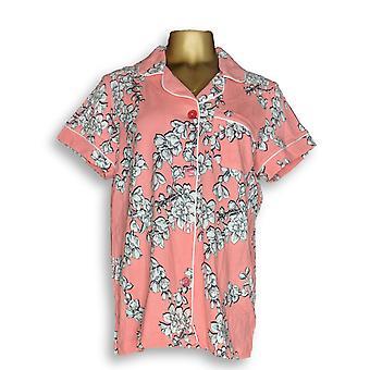Beauty Sleep by BedHead Women's Sleepshirt Short Sleeve Notch Pink A346769