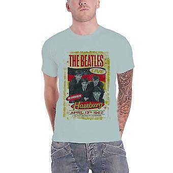 The Beatles T Shirt Hamburg 1962 Poster Official Mens New Grey