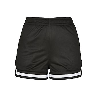 Urban Classics Women's Shorts Stripes Mesh Hot Pants
