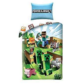 Minecraft Battle duvet Cover Set bed set linens 140x200 + 70x90cm